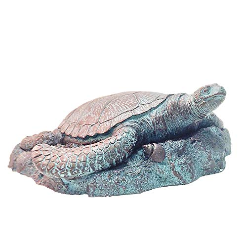 Homestyles 11 in. Sea Turtle 3/D Bronze Patina Coastal Stepping Stone