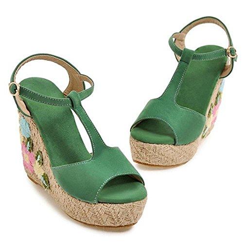 Toe Green Coolcept Sandales Bride Peep Femmes wRqqxnBF