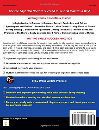 Writing Skills Success in 20 Minutes a Day: Amazon.co.uk: Learningexpress  LLC: 9781576859001: Books