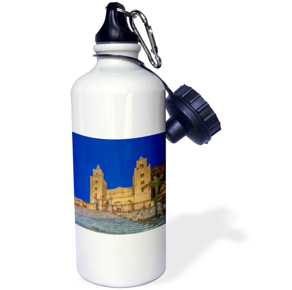 3dRose Danita Delimont - Churches - Italy, Sicily, Cefalu, Cefalu Cathedral completed in the 12th century - 21 oz Sports Water Bottle (wb_277649_1)