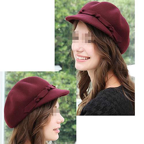 Las Pasaj Caps De Panaderos Sombrero Gorritas Niñas Flat Red Cap Boinas Mujeres Sombreros Clásicas Newsboy Lana wqBrIp4qF