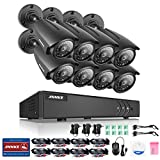 [New 960P] ANNKE 8CH HD-TVI 1080N CCTV DVR Recorder and (8) 1.3MP(960P) Superior Night Vision Weatherproof Cameras, QR Code Easy Setup, Smartphone Quick Remote Access-NO HDD