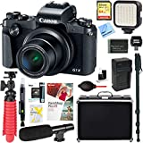 Canon PowerShot G1 X Mark III 24.2MP 3x Zoom Lens Digital Camera (Black) + 64GB Memory & Microphone Accessory Bundle For Sale