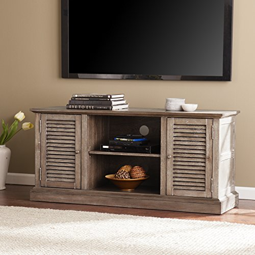 Southern Enterprises, Inc. Jesup TV/Media Console No Tool Assembly - Burnt (Low Country Sideboard)