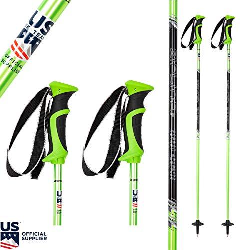 "Ski Poles Graphite Carbon Composite - Zipline Lollipop U.S. Ski Team Official Supplier (Lime, 50"" in./127 cm)"