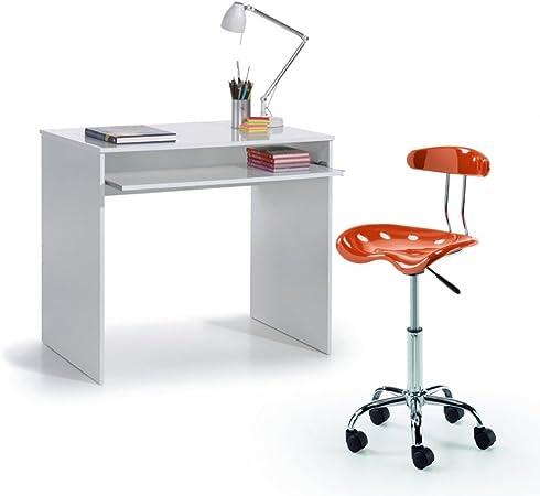 Hogar Decora Pack Mesa Ordenador Bandeja Extraible + Silla Oficina ...