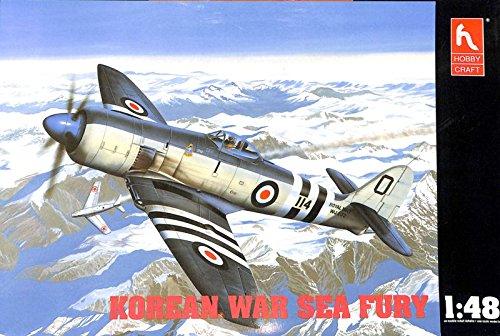 hobby-craft-148-korean-war-sea-fury-plastic-aircraft-model-kit-hc1531