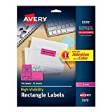 """Avery Neon Laser Labels, Rectangle, 1"""" x 2-5/8, Fluorescent Magenta, 750/Pack (5970)"""