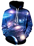 Leapparel Mens Galaxy Sweatshirts 3D Print Hoodie New Year Valentine's Day Funny Sweater Sweatshirt Space Pullover XL