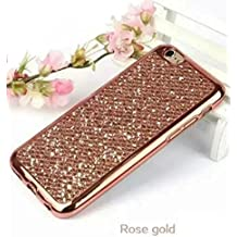 Galaxy S6 Edge Plus Shiny Case,OMORRO Newest Fashion Glitter Bling Attractive Back Plated Bumper Ultrathin Anti-Scratch Soft Protect Skin Case Cover for Samsung Galaxy S6 Edge Plus Rose-Gold