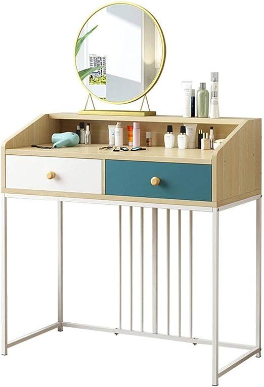 Amazon.com: Dygzh Dressing Table Dormitory Bedroom Dresser ...