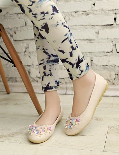 chaussures Rond Extérieure us6 Bleu Plat beige décontracté Cn36 Pdx Talon rose bout Confort Similicuir Eu36 Appartements Pink Uk4 Femme n0wx4zPqZd