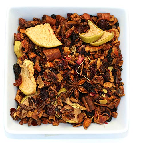 Tealyra - Warm Apple Cider - Hibiscus - Aniseed - Cinnamon - Almonds - Herbal Fruity Loose Leaf Tea - Caffeine Free - 112g ()