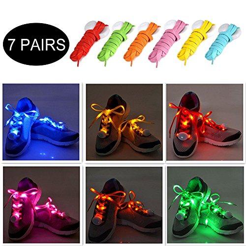 Shoelaces For Christmas.Ayamaya 7pairs Led Light Up Shoelaces For Christmas Gift