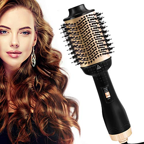 Hair Dryer Brush, Hot Air Brush, VSADEY One Step Hair Dryer & Volumizer 3 in 1 Hair Styling Brush Negative Ion Straightener & Curly Salon Reduce Frizz and Static for All Hair Types