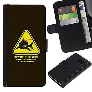 All Phone Most Case / Oferta Especial Cáscara Funda de cuero Monedero Cubierta de proteccion Caso / Wallet Case for Sony Xperia Z3 Compact // Danger Warning Lasers Powers Austin