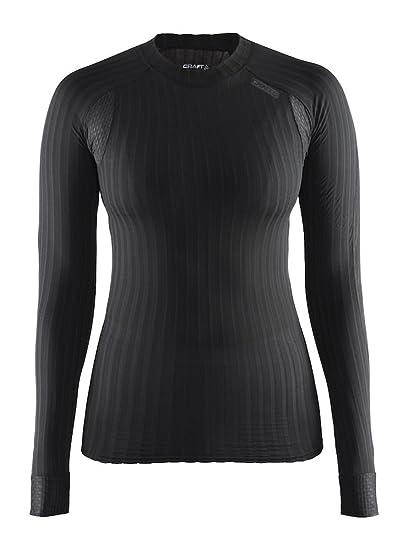 Craft Women's Active Extreme 2.0 Lightweight Long Sleeve Training Tee,  Black, X-Small