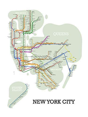 Evanston Subway Map.Amazon Com New York City Subway Map Handmade