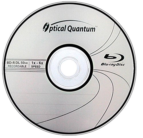 Optical Quantum OQBDRDL06LT-25 6X 50 GB BD-R DL Blu-Ray Double Layer Recordable Logo Top 25-Disc Spindle
