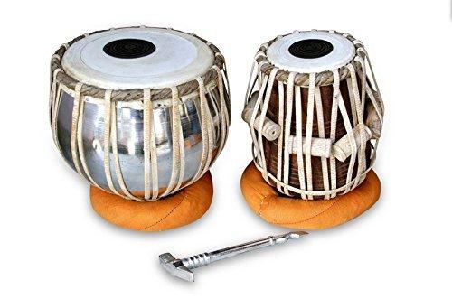 tabla-drum-set-queen-brass-professional-quality-iron-tabla-drum-set-iron-bayan-sheesham-wood-dayan-tabla-great-sound-with-tunnig-hammer-cushiona-cover