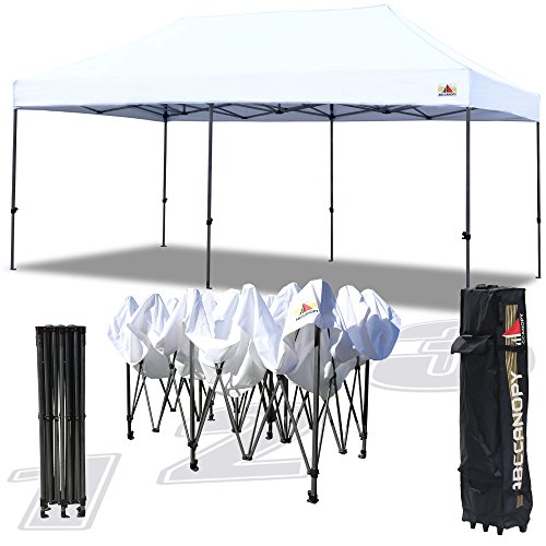 ABCCANOPY 30+Colors Pop up Canopy Folding Heavy Duty Commercial Instant Canopy,Bonus Carrying Bag (10×20 White)