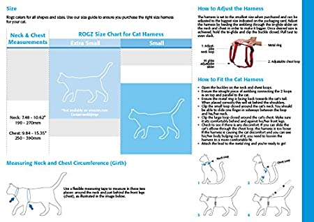 Pet Supplies Rogz Reflective Nylon Cat Leash And Harness