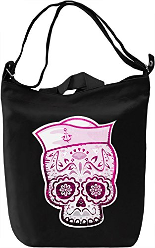 Sugar Skull Sailor Borsa Giornaliera Canvas Canvas Day Bag| 100% Premium Cotton Canvas| DTG Printing|