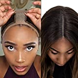 Lace Wig Grip Velvet Comfort Wig Band For Lace Wigs And Frontal,Flexible Velvet Wig Grip Scarf Head Hair Band Wig Band Adjustable Fastern (Brown)