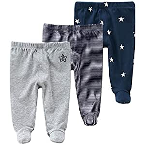 fi+fi Unisex Baby and Toddler Cotton Leggings with 11 Unique and Playful Patterns for Boys and Girls of All Ages