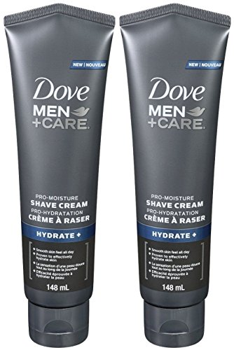 Dove Men + Care Pro Moisture Hydrate+ Shave Cream, 5 Ounce (Pack of 2)