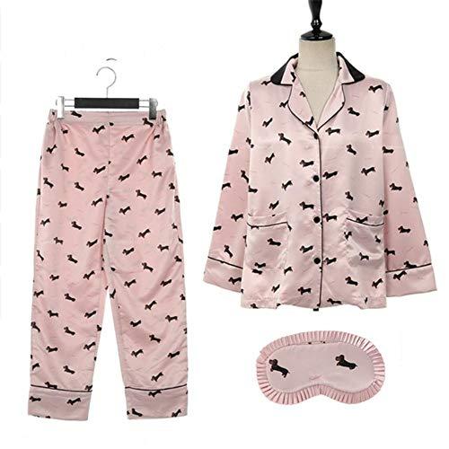 Pigiama Pigiami Di Cartoni Mmllse Casa Pezzi Vestito 3 Notte Abbigliamento Animati Photo Da Color Cucciolo Cotone Rosa d1qHPw
