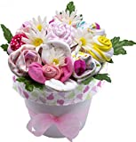 Nikki's Deluxe New Baby Blossom Clothing Bouquet (Pink)