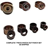 Swag Off Road Knock Out Punch Set (7) Piece Set (Tube Sizes)
