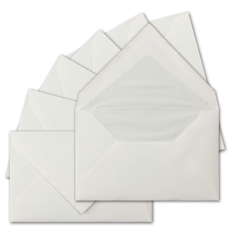 250 Stück Stück Stück ca. B6 Vintage Brief-Umschläge, echtes Bütten-Papier, 11,8 x 18,2 cm, Weiß halbmatt gefütterte Brief-KuGrüns - Original Zerkall-Bütten B07H2K64SJ | Online-verkauf  09970d