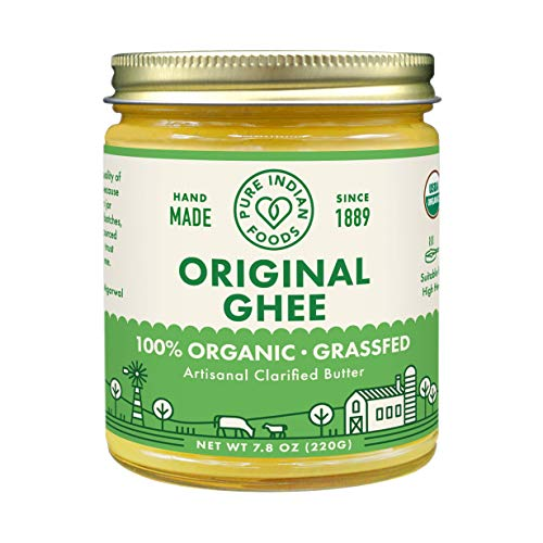 Grassfed Organic Ghee 7.8 Ounce (Pack of 6) - Pure Indian Foods Brand  (Best Indian Cooking Sites)