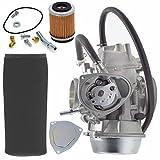 #7: YFM660F Carburetor w/Air Filter Oil Filter for Yamaha 1998-2000 Grizzly 600 4x4 YFM600FW 2002 2003 2005 2006 2007 2008 YFM660F Grizzly 4x4