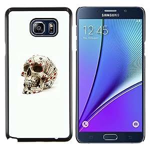 """Be-Star Único Patrón Plástico Duro Fundas Cover Cubre Hard Case Cover Para Samsung Galaxy Note5 / N920 ( Poker Tarjetas Cráneo de juego de Las Vegas"""" )"""