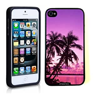 Iphone 5 5S Case Thinshell Case Protective Iphone 5 5S Case Shawnex Tropical Palm Trees Sunset Beach