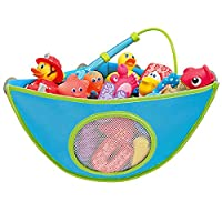 Gazelle Trading Bath Toy Organizer Bathtub Toys Holder Storage Net Corner Shower Caddy Bag for Kids and Toddlers Bathroom Basket for Baby Boys and Girls Hanging Mesh Hammock