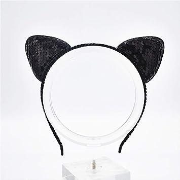 Diadema WYHH con perlas para el pelo, para niñas, mujeres, gatos ...