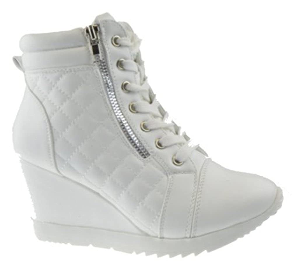 Amazon.com: Adriana 12 Womens Lace Up Quilted High parte ...