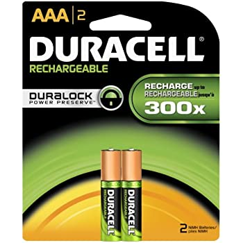 Amazon.com: Duracell Rechargeable AAA Batteries 2 Count