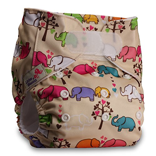 with 2 Microfibre Inserts Littles /& Bloomz Fastener: Hook-Loop Set of 1 Pattern 41 Reusable Pocket Cloth Nappy