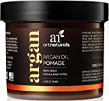 ArtNaturals Professional Argan Oil Pomade - 4 oz - Strong Hold for All Hair Types – Natural Hair Styling Formula – Men and Women – Made in USA – Thick, Straight and Curly Hair