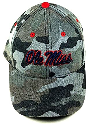 f10313e573459 Warrior Ole Miss Rebels Grey Camo Adjustable Hat at Amazon Men s Clothing  store
