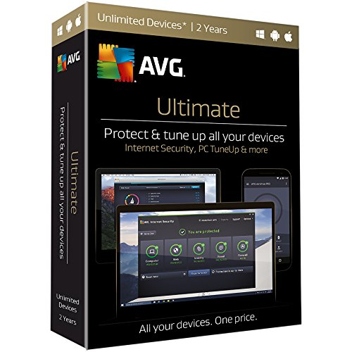 AVG Ultimate 2017, Unlimited Devices, 2 Years (Cleaner Mac Software)
