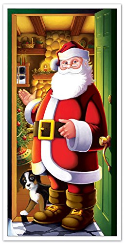 Beistle 20012 Santa Door Cover, 30