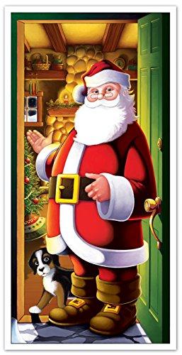 (Beistle 20012 Santa Door Cover, 30
