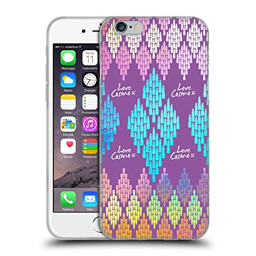 Official Cosmopolitan Lipstick Aztec Brights Soft Gel Case for Apple iPhone 6 / 6s
