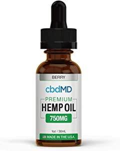 750mg 1oz/30mL Pure Organic Premium Hemp Oil Tincture Drops for Pain Relief Anxiety Sleep Mood Stress Support 100% USA Grown Hemp Extract (Berry)